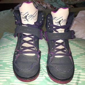 Purple Jordan flights